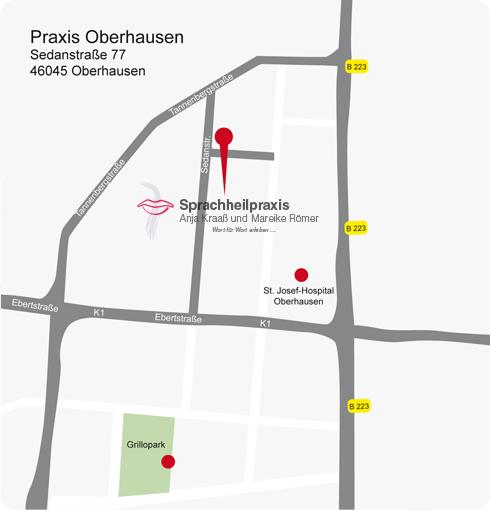 Wegskizze Oberhausen